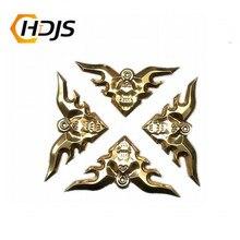 4 pc original 304 metal artesanato canto applique quadro de parede móveis porta decoração aço inoxidável bat flor