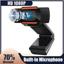 Webcam PC Mini Web Camera FHD 1080P Built-in Microphone USB Plug Mac Laptop Desktop YouTube Skype Zoom Video Conference Cam