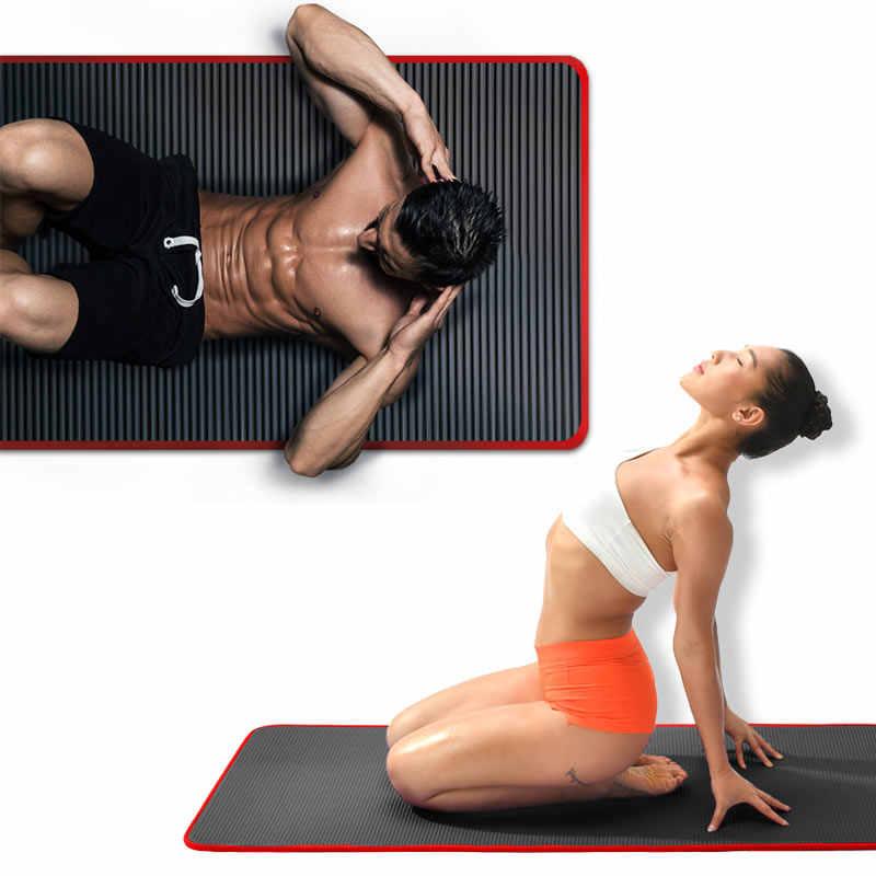10mm mata do jogi bardzo gruba 1830*610mm NRB antypoślizgowa poduszka mata dla mężczyzn kobiety Fitness Tasteless Gym ćwiczenia klocki Pilates joga Mat