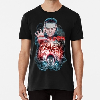 Bitchin Eleven ST2 Tribute T shirt strangerthings elven 11 millie bobby brown hawkins will beyers hopper mind flayer image