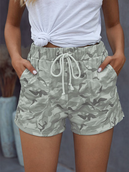 Womens Camouflage Casual Shorts