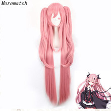 Morematch Animal Long Straight Krul Tepes Wig Owari no Seraph Of The End Synthetic Hair Anime Cosplay Wig Ponytail Wigs все цены