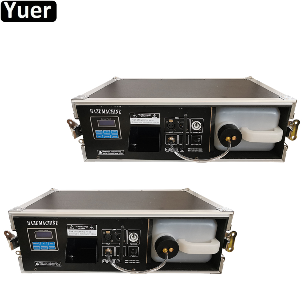 2Pcs/Lot 2000W Mist Haze Machine For Stage Equipment with Flight Case Use Liquid Water Based / <font><b>Hazer</b></font> <font><b>Fog</b></font> Machine For DJ Club image