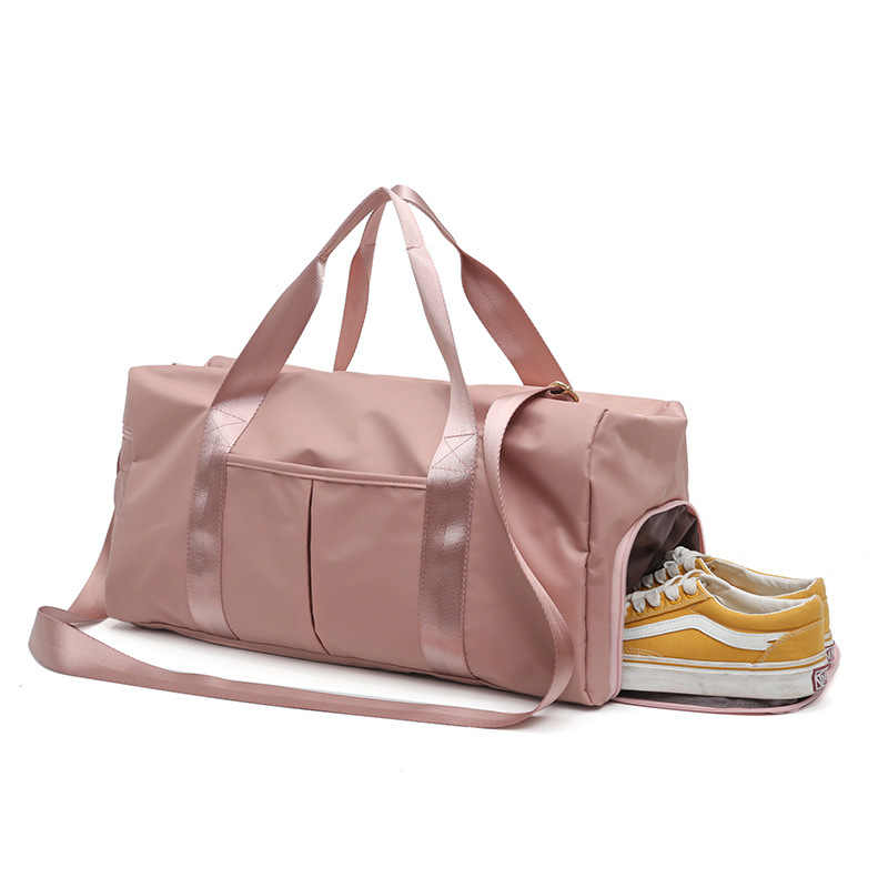 Na zewnątrz wodoodporny Nylon siłownia torby mężczyźni kobiety szkolenia Fitness torba podróżna mata do jogi Sport torba z przedziału buty