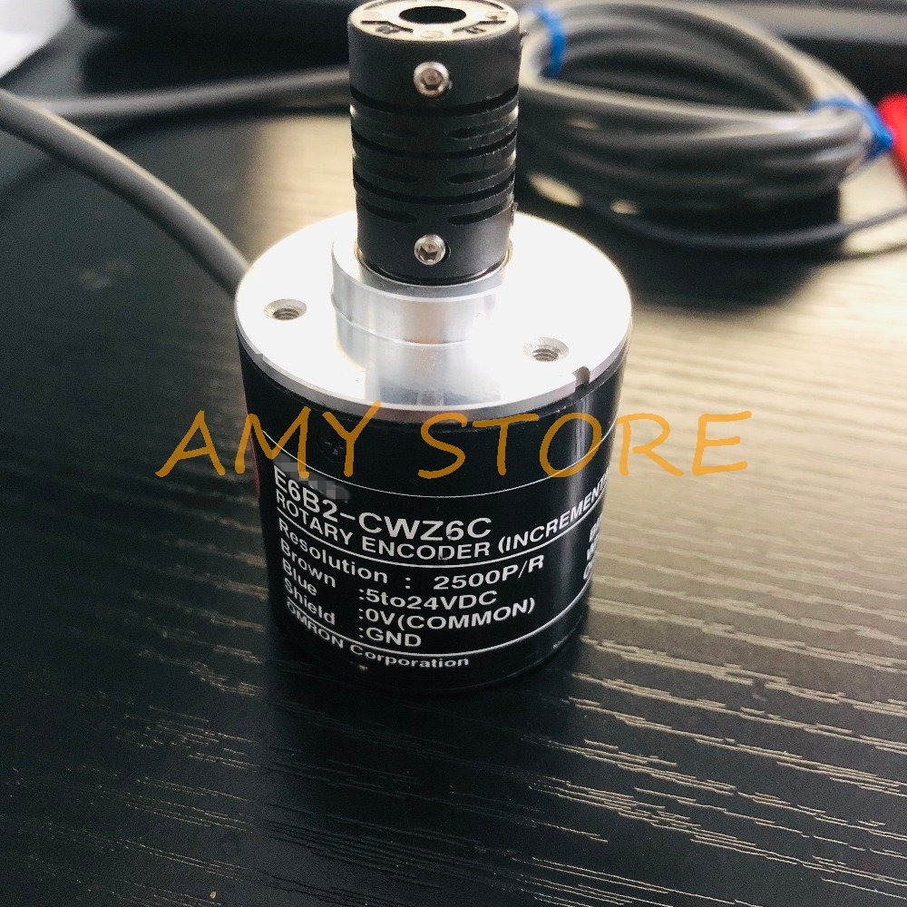E6B2CWZ6C for OMRON 5-24V Rotary Encoder Switch E6B2-CWZ6C 2500 2000 1800 1024 <font><b>1000</b></font> 600 500 400 360 200 100 <font><b>60</b></font> 40 30 20P/R image