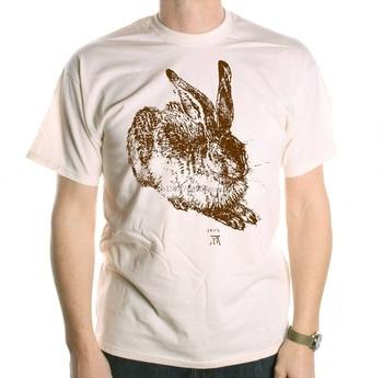 Camiseta de albrecher Durer-conejo Arte Fino camiseta diseñador gráfico camiseta verano cuello redondo teefree envío barato camiseta