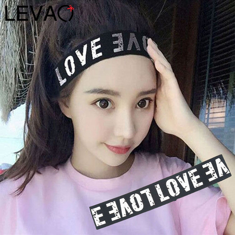 LEVAO High Elastic Letter Hair Band Fashion Hairbands Bezel Stripe Headband Turban For Women Girls Hair Accessories Headwear New