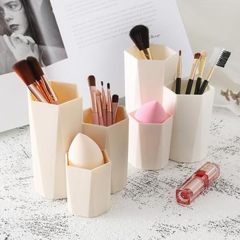Plastic Desk Cosmetic Storage Box Lipstick Brushes Holder Organizer Sundries Container Women Women Makeup Tools