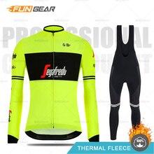 Treking Cycling Clothes Pro Team 2019 Winter Cycling Jersey Set MTB Racing Clothing Long Sleeve Thermal Fleece Road Bike Uniform цена