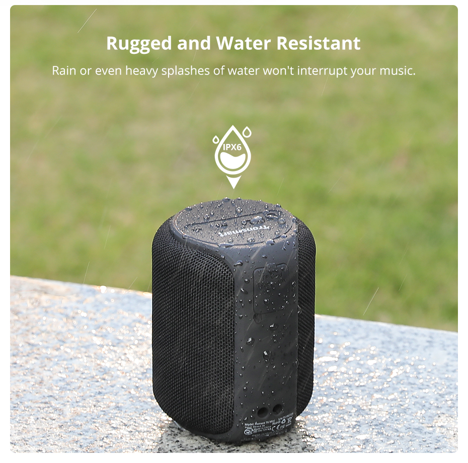 Tronsmart T6 Mini Bluetooth Speaker TWS Speakers IPX6 Waterproof Wireless Bluetooth 5.0 Speaker 24 Hours Play-time Portable Speaker with 360 Degree Surround Sound, Voice Assistant (6)