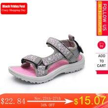 Apakowa בנות קיץ בוהן פתוח וו ולולאה חוף הליכה ספורט סנדלי ילד רחיץ מהיר יבש עקב פתוח מים סנדל נעליים