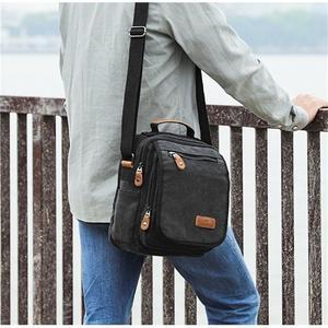 Image 4 - Mini Men Canvas Bag Wear Resistant Fashion Handbag Business Briefcase Crossbody Bags Travel Casual Retro Bags For Male XA508ZC