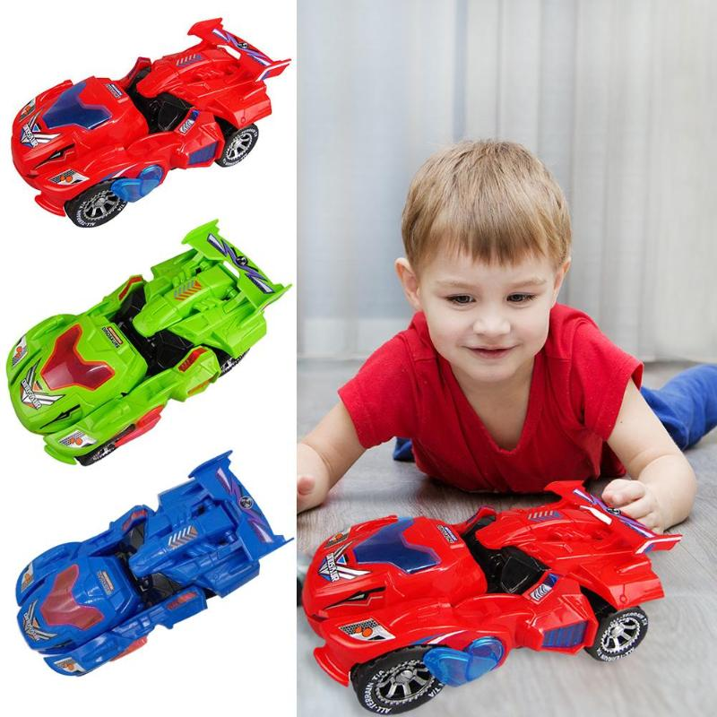 Hot sale <font><b>cool</b></font> Electric Deformation Dinosour Car <font><b>Toy</b></font> Universal Wheel Transformation Robot Vehicle With Lights music Gift <font><b>for</b></font> <font><b>Kids</b></font> image
