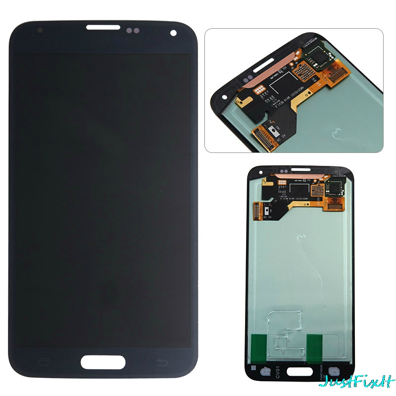 Assembly For Samsung Galaxy S5 G900F G900R <font><b>G900H</b></font> G900M LCD <font><b>Display</b></font> touch screen Digitizer Sensor Glass Assembly image