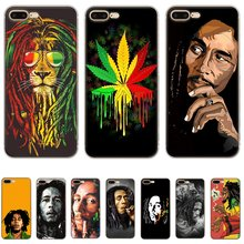 Mobile Phone Case For iPhone Apple XR X XS Max 6 6s 7 8 P Lus 5 5S SE Shell Bob Marleys Lion Rasta Lion Reggae Diy Protection(China)