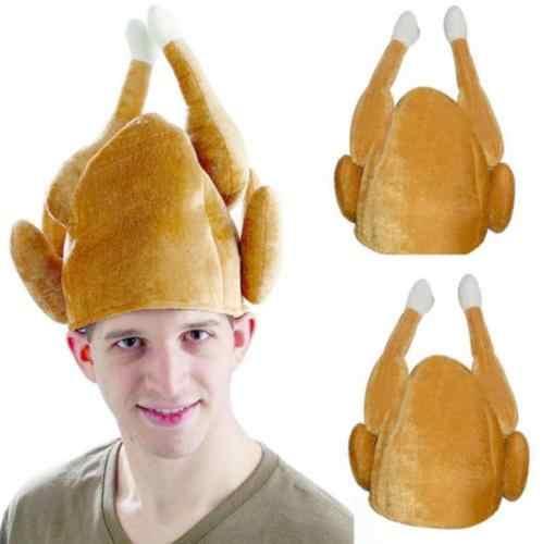 Sombreros de Navidad Unisex de felpa creativo divertido sombrero de pavo Día de Acción de Gracias regalo fiesta Halloween disfraz gorra