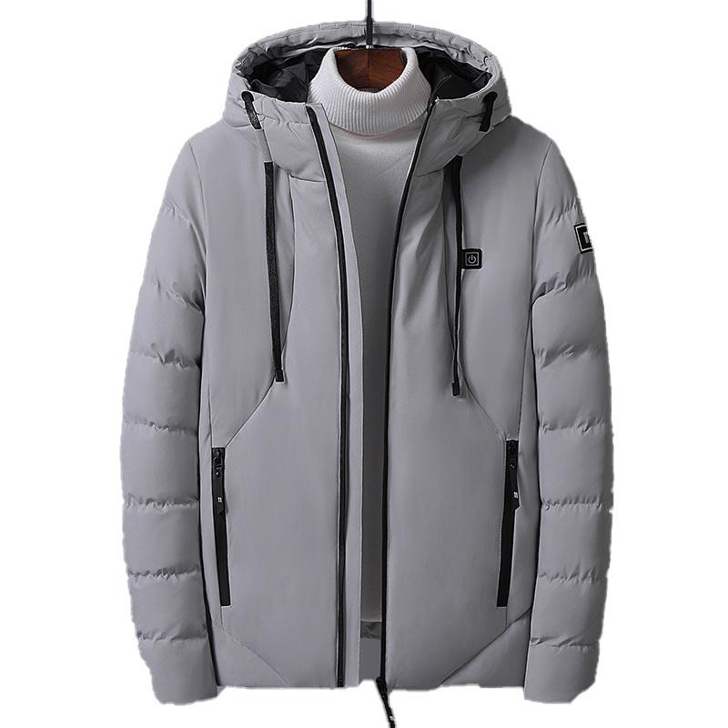 2019 Winter Heating Cotton Clothing Coat For Men Mart Charging Thick Warm Down Jacket Hooded Jacket Doudoune Homme