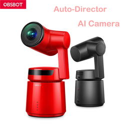 OBSBOT 3 Axis Shooting 360 4k 60fps Stabilized Handheld Camera Auto-Director AI Tracking Selfie Video for Vlog Live