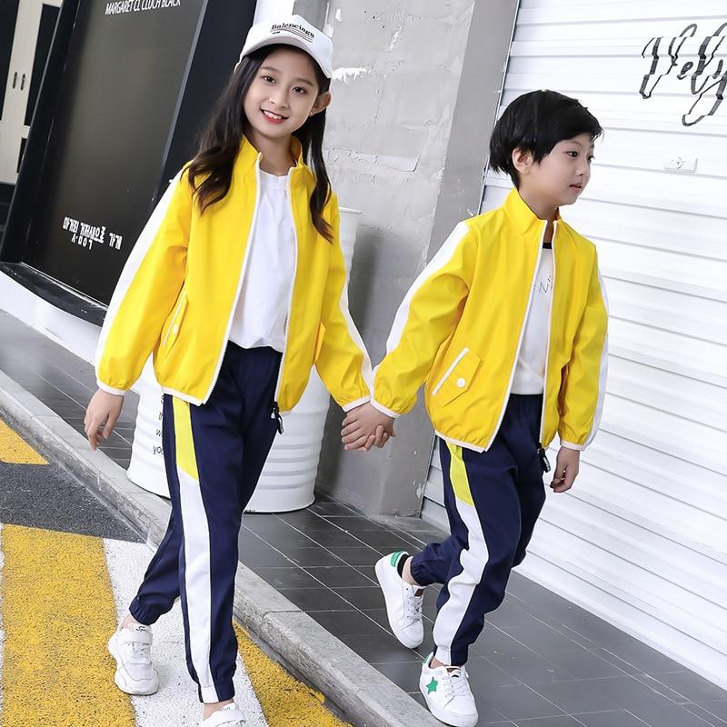 Young STUDENT'S School Uniform 2018 Spring And Autumn England Business Attire CHILDREN'S Suit Teacher Clothing Kindergarten Suit