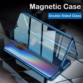 Magnetic Case Redmi 9A Note 9 Pro 9S Coque Note 8 7 Glass Cover Bumper For Xiaomi POCO X3 Nfc Note 10 lite CC9 Pro MIX3 5G Case