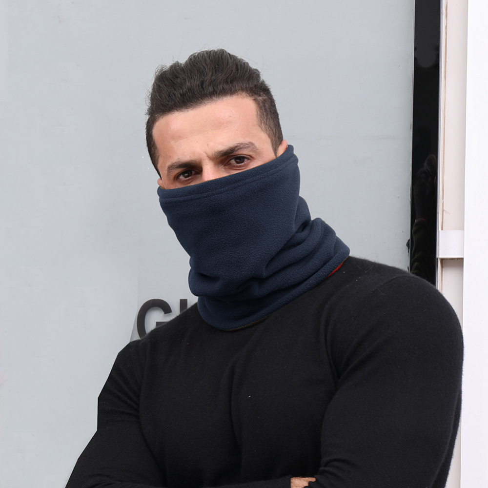Winter Outdoor Warm Scarf Multifunction Sports Windproof Mask Unisex Fleece Shawl Elasticity Scarf Double Warm Collar Bib