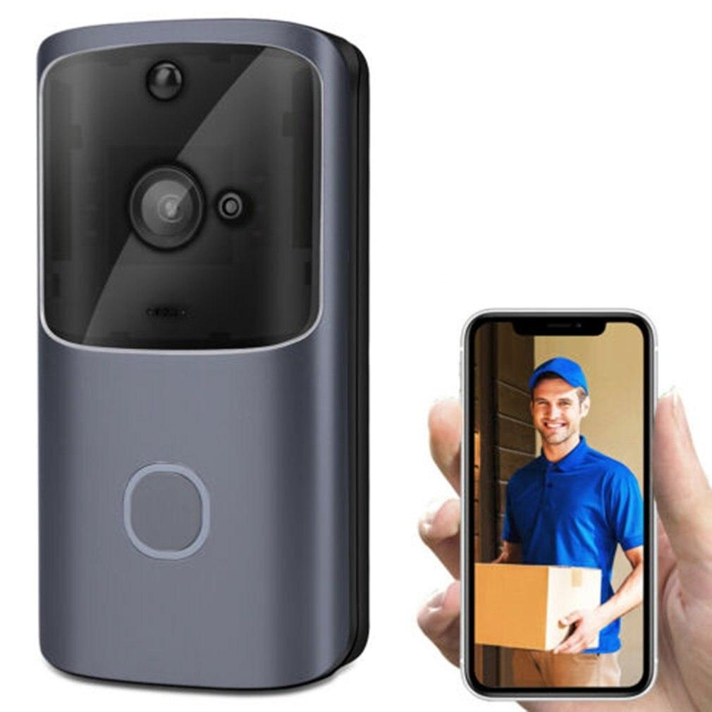 Беспроводной умный WiFi дверной звонок ИК Видео визуальное кольцо камера домофон Домашняя безопасность удаленный домофон видео сигнализаци