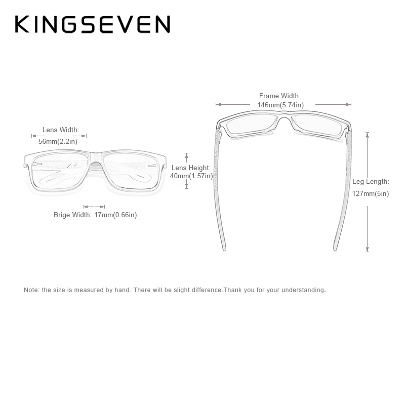 KINGSEVEN Brand Design TR90+Walnut Wood Handmade Sunglasses Men Polarized Eyewear Accessories Sun Glasses Reinforced Hinge 4
