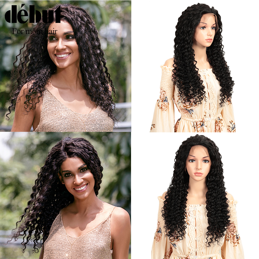 Debut Human Hair Wigs Curly Short Human Hair Wig Lace Front Human Hair Wigs Deep Wave Wig 100% Remy Brazilian Hair Wigs For Lady