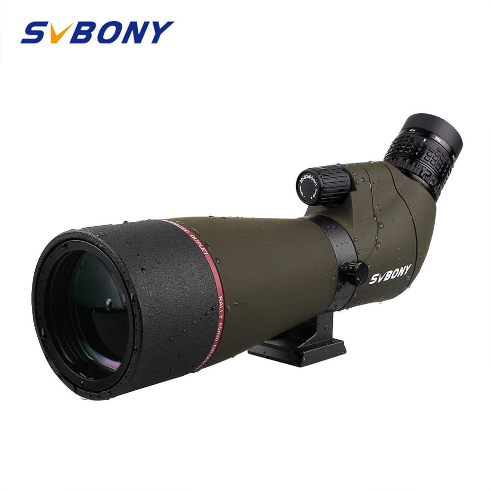 SVBONY SV13 Spotting Scope 20-60x65 Zoom Telescope BK7 Silver+MC Prism And Fully Multi-coated Objective Lens Waterproof F9314AA
