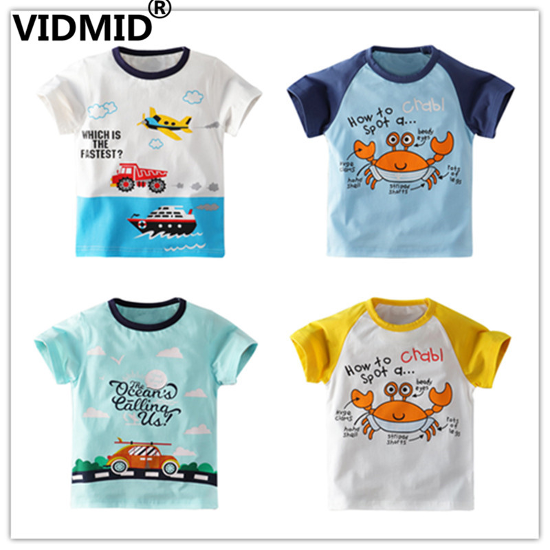 VIDMID Kids Baby Boys Clothes Baby T-shirt Cartoon Car Print Tops T-Shirt New Summer Short Sleeve O-Neck T-shirts Tees 4138 01