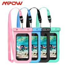 4pcs Mpow PA132 IPX8 Waterproof Phone Case Bag Pouch Universal For 6.5 inch Cell Phones Home Button Cutout Take Photo Underwater