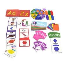 Children Montessori Early Education Toys Calendar Weather Chart Preschool Learning Toys Set For Kids Intellectual Development