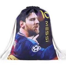 цена на Liverpool Manchester United Chelsea Barcelona Real Madrid Football Club Fans Drawstring Bags Printing Messi Ronaldo Soccer Bags
