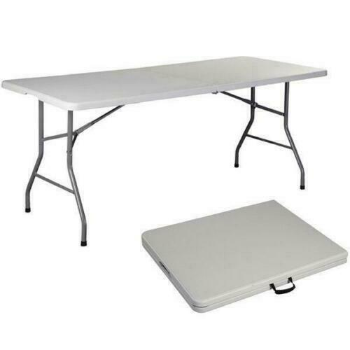 6 FT Portable Folding Table Outdoor Picnic Plastic Camping Dining Party Indoor