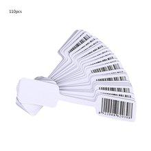 100 шт Пустой стикер для штрих-кода со скидкой бумага для надписей этикетка на ювелирные украшения бирка серебряная этикетка почерк