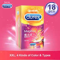 Préservatifs magiques Durex grande taille pointe de côte préservatif en caoutchouc Latex naturel produits intimes Ultra minces sexe de manchon de pénis pour les hommes