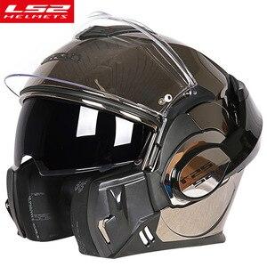 Image 2 - LS2 FF399 Lật Lên Moto Rcycle Mũ Bảo Hiểm Con Người Mô Đun Moto Chéo Đua Capacete LS2 Mũ Bảo Hiểm Casco Moto Capacete De Moto cicle ECE