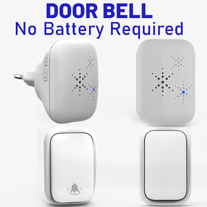 Wireless Doorbell No Battery Required Waterproof Self-Powered Smart Door Bell Home Cordless Ring Dong Chime Timbre Calling