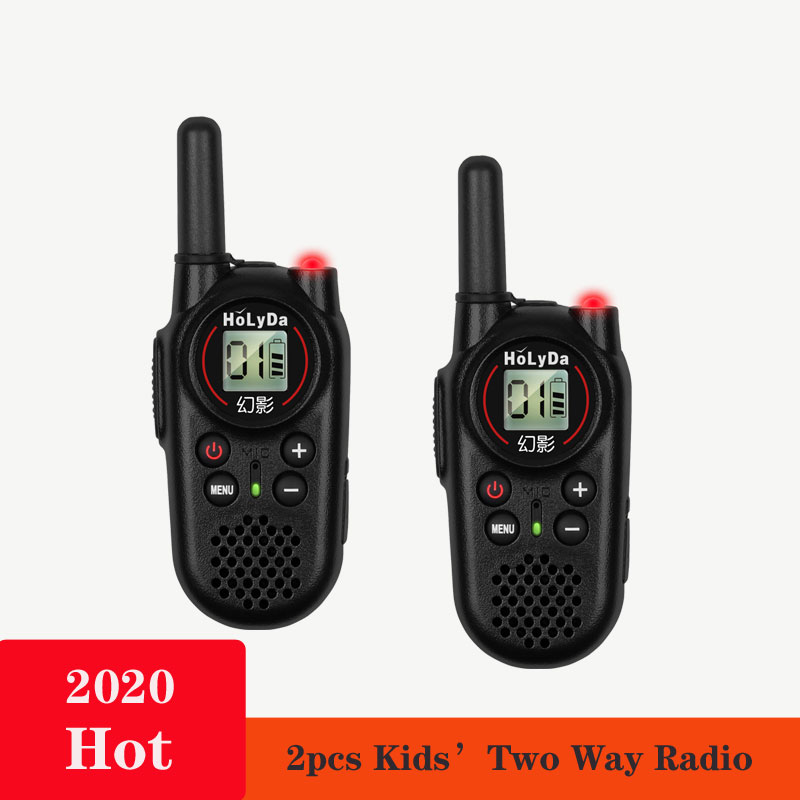 Best Sell  2Pcs Uhf Handheld Two Way Radio Kids Walkie Talkie Mini Outdoor Self Driving Walkie Talkie Up To 3km
