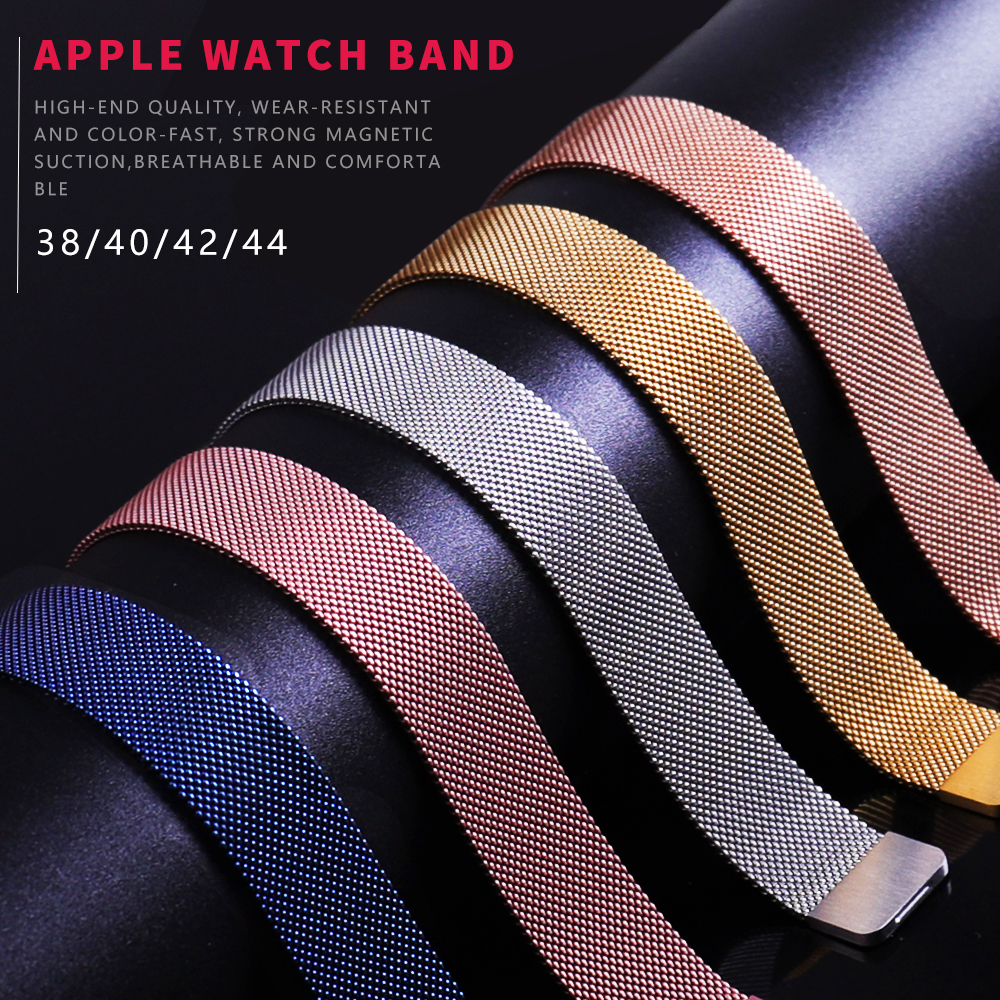 Milanise Loop Stainless For IWO <font><b>12</b></font> <font><b>Smart</b></font> <font><b>Watch</b></font> band 44 mm/40mm Band 38mm 42mm Sport bracelet Rubber watchband for IWO <font><b>12</b></font> image