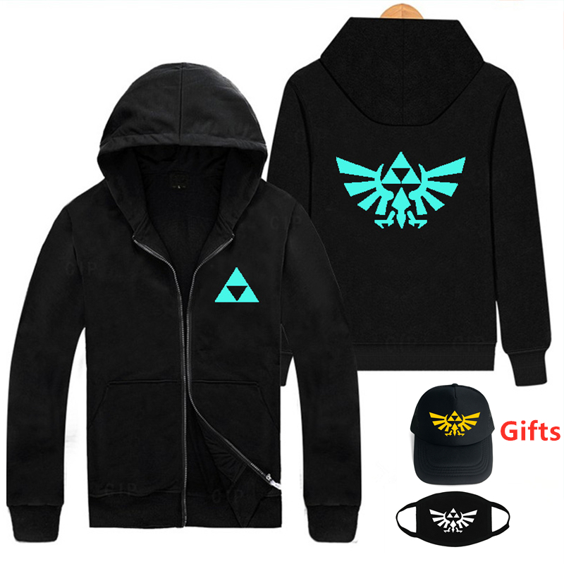Winter game Legend of Zelda Breath of the Wild Hooded Zipper Coats Sweatshirts