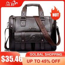 Homens de couro preto maleta de negócios bolsa mensageiro sacos masculino do vintage bolsa de ombro dos homens grandes sacos de viagem portátil quente xa177zc