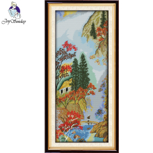 Joy Sunday,hill,cross stitch embroidery set,cross pattern,cross needlework,Scenery picture cross kit
