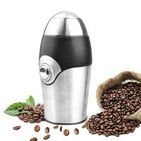 다목적 전기 커피 콩 그라인더 스테인레스 스틸 밀러 씨앗 향신료 허브 견과류 (eu 플러그)|커피 메이커|가전 제품 -