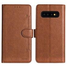 Чехол для телефона samsung Galaxy S10e S10 S9 S8 Plus, защитный чехол с магнитной пряжкой, ретро кожаный бумажник, флип-чехол