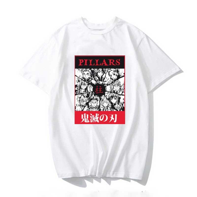 Купить 2020 футболка haikyuu kimetsu no yaiba pillar мужские кавайные