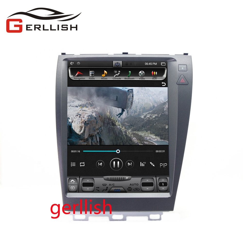 <font><b>12</b></font>.1inch Tesla style vertical screen android car dvd gps multimedia player for Lexus ES250 ES300 ES350 2006-2012 navigation image