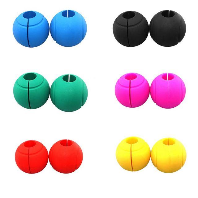 1 Pair Barbell Grips Round Thick Silicone Dumbbell Adapter Balls Barbell Grip Hand Wrap Ball For Wrist Bar Muscle Training New