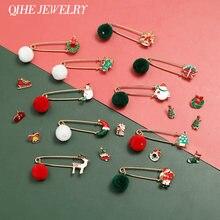 Qihe ювелирные изделия рождественские эмаль на булавке роскошный