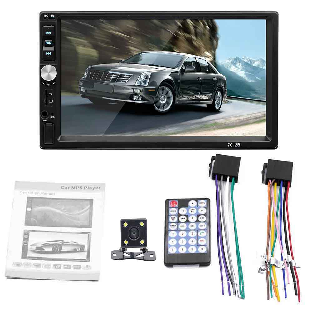 7012 7-inch Double Ingot Car Universal Car Bluetooth Call MP5 Player Reverse Image